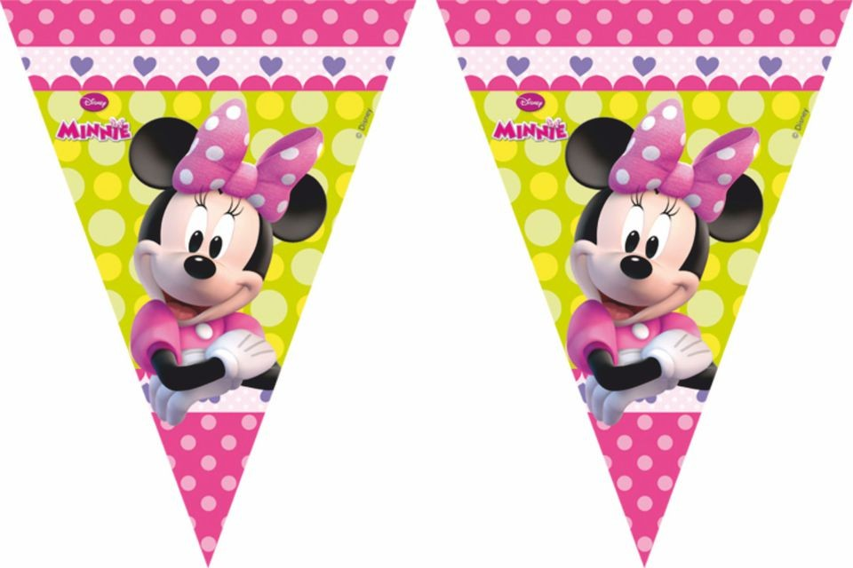 Filare 9 bandierine Minnie Boutique 2.30m
