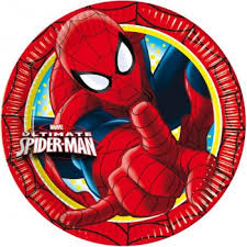 Piatti di carta Spiderman Ultimate 20cm 8pz