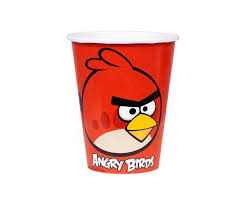 Bicchieri di carta Angry Birds 250ml 8pz