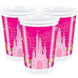 Bicchieri di plastica Princess Summer Palace 200ml 10pz
