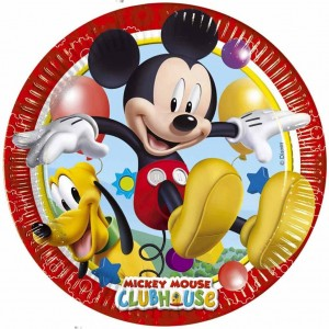 Piatti di carta Mickey Playful 20cm 8pz