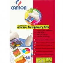 LUCIDI A4 160GR 10FG ADHESIVE TRASPARENCY INKJET CANSON