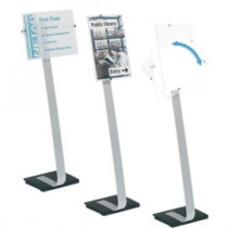 CORNICE DA TERRA CRYSTAL SIGN STAND F.TO A3 DURABLE