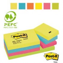 BLOCCO POST-IT 653-TFEN ENERGY 100FG 38X51MM 72GR ASSORTITO