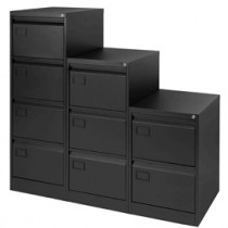 CLASSIFICATORE A 3 CASSETTI PER CART. SOSPESE NERO H 101CM - SERIE FILING