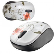 MINI MOUSE OTTICO WIRELESS grey flowers TRUST