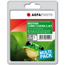 MULTIPACK 4 CARTUCCE PER C/BROTHER LC 980BK LC 1100BK